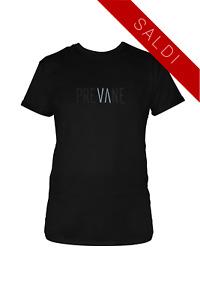 Maglia Maglietta T-shirt Uomo Donna Nera Unisex Madeinitaly Prevane 100% Cotone