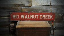 Custom Creek / River Wood Sign - Rustic Hand Made Vintage Wooden ENS1000212