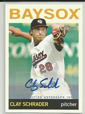 Clay Schrader Baltimore 2013 Topps Heritage Minors Autograph