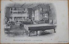 1903 French Postcard: Billiard Room/Le Grand Salon - Chateau de Meillant, France