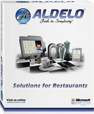 Aldelo 2013 Lite Restaurant Bar Bakery Pizza POS Software NEW