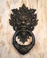Cast Iron Gothic Blue Devil Vintage Door Knocker