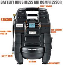 Portable Air Compressor Dc 18v Or 110v Ac Dual Purpose Oil Free Quiet Air Pump