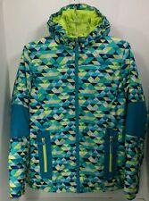 Lands End Girls Blue Green Hooded Stormer Jacket Coat Parka Size XL 16
