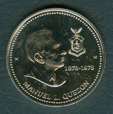 1978 Manuel Quezon Monument  50 Piso Philippine Commemorative Silver Coin