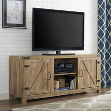 Rustic Vintage Antique Entertainment Center 65 inch TV Stand Credenza with Doors
