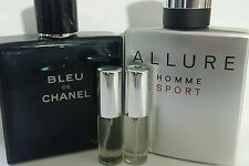CHANEL de BLEU and CHANEL ALLURE HOMME SPORT-Combo mens 5ml - for gym, exercise