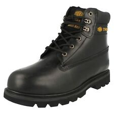 Mens WL02  UK 9 Black leather lace up steel toe cap work boot  by Truka £29.99