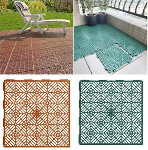 5-20X Patio Flooring Tiles Mat Garden Outdoor Interlocking Decking Lawn Pathway