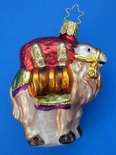 INGE GLAS CAMEL GERMAN BLOWN GLASS CHRISTMAS TREE ORNAMENT