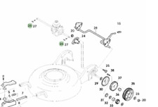 Genuine John Deere Lawnmower Wheel Hub Shaft Key GC00279