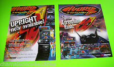 Midway HYDRO THUNDER Set Of 2 NOS Video Arcade Game Promo Sales Flyers 1995