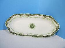 Burley Co Haviland Oval Dish Antique Porcelain Limoges White Green Floral Chicag
