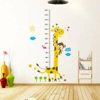 Removable Height Chart Measure Giraffe Wall Sticker Decal for Kids Room LrJNE