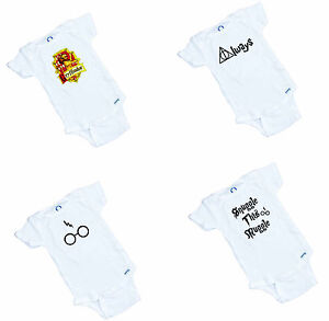 Harry Potter 4 piece onesie collection. 4 onesies 1 price  Fantastic Shower Gift