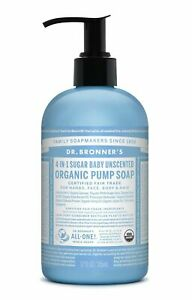 DR BRONNER`S ORGANIC 4-in-1 Sugar Baby Unscented Organic Pump Soap 356ml