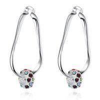 925 Sterling Silver Hoop Pierced Earrings L9