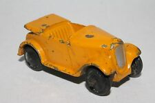 1940's Dinky #35d Austin 7 Convertible, Original  Yellow, Lot #1