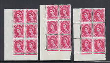Great Britain Sg 617b Mnh. 1967 8p Wilding Cylinder Blocks of 6, 3 different