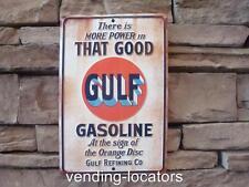 GULF GASOLINE Metal SIGN USA Vintage Style Gas Texaco Good Gulf Gulf Pride New