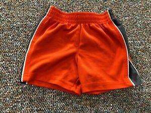 The Children's Place Orange & Grey Sports Shorts 12M