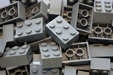 LEGO 30 x DARK GREY BRICKS 2 x 3  No 3002 CITY-STAR WARS-MOVIE-FRIENDS