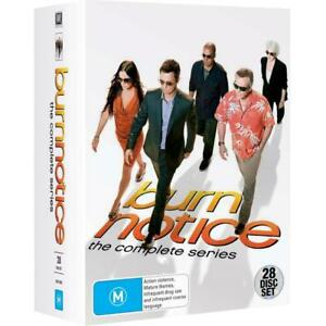 BURN NOTICE COMPLETE SERIES COLLECTION 1-7 BOX SET 28 DISC R4 NEW&SEALED