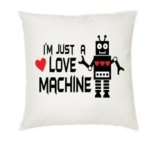 I'm Just a Love Machine robot cushion cover. Wedding anniversary Romantic pillow
