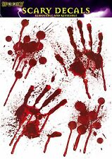 Halloween Handprints Window Stickers Hand Blood Party Decorations Horror Spooky