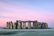 Lámina-Stonehenge English Heritage (imagen Cartel Alienigenas ancestrales Arte)