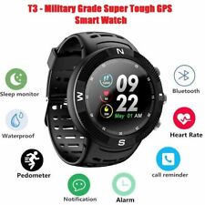 T3 Tact Military Grade Super Tough GPS Smart Watch Hybrid Glass All Weather Men