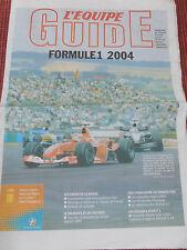 JOURNAL L'EQUIPE GUIDE FORMULE 1 ANNÉE 2004   (réf 26)