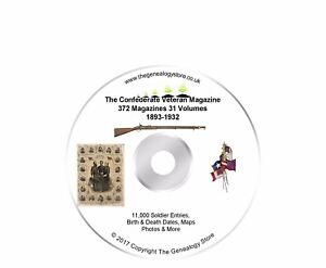 The Confederate Veteran Magazine 31 Vols With 11000 Names On DVD