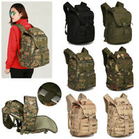 Men's MOLLE Hiking Camping Bag Military Tactical Rucksack LAPTOP Backpack Travel