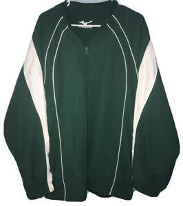 Mizuno Baseball Warm-up Pullover Jacket Men's Size XL Windbreaker 1/4 Zip LINED