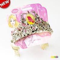 Disney Princess Aurora Sleeping Beauty Gold Color Jeweled Tiara One Size Child