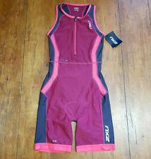 2Xu Womens Small Tri Suit Purple Sleeveless Perform Triathlon Cycling Skinsuit S