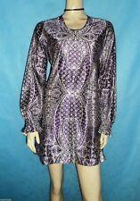 superbe robe mini vintage ARNEL violette et blanche Taille 38 / 40  BON ETAT