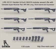 Live Resin 1:35 Heckler & Koch HK416 Modular Assault Rifle w/ Geissel LRE35131*