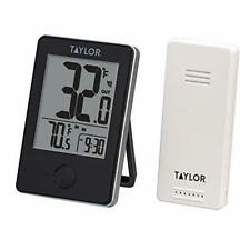 Taylor Precision Wireless Digital Indoor Outdoor Thermometer up to 200 ft Black