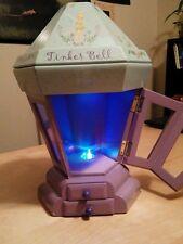 DISNEY TINKER BELL LIGHTED MUSIC JEWELRY BOX WOODEN LANTERN Purple Tinkerbell