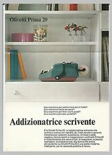 ADVERTISING - DEPLIANT  - OLIVETTI PRIMA 20 - ADDIZIONATRICE SCRIVENTE