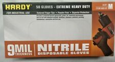 Nitrile Gloves 9 Mil Strong Extreme Heavy Duty Powder Free M Medium New Boxed
