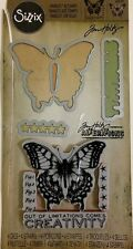 Tim Holtz Sizzix Dies Limitations Butterfly Cling Stamps New WITHOUT PACKAGING