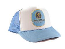 Lowenbrau beer Trucker Hat mesh hat snapback hat baby blue