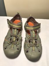 Merrell Select Grip Hydro Boys Hikers Green 4W Leather Uppers
