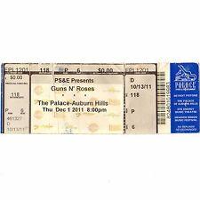 GUNS N' ROSES & D GENERATION Concert Ticket Stub AUBURN HILLS MI 12/1/11 PALACE