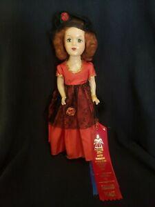"""1940's Uneeda Rita Hayworth as Carmen Composition Doll 14"""" All Original"""