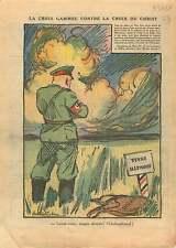 Caricature Anti-Nazis Croix-Gammée Cross of Christ Germany 1937 ILLUSTRATION