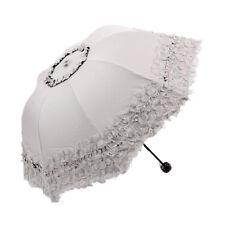 Princesse Dome / Birdcage Soleil / Pluie Parapluie Pliant en Dentelle Pour H9V4